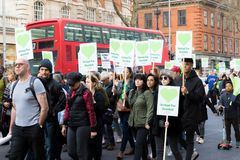 Stil Maart voor Grenfell-Toren in Kensington en Chelsea stock afbeeldingen