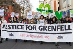 Stil Maart voor Grenfell-Toren in Kensington en Chelsea royalty-vrije stock foto