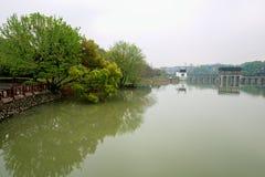 Stil meer-Nan-Tchang Mei Lake Scenic Area Stock Afbeelding