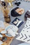 Stil och bohemisk picknick Royaltyfria Bilder