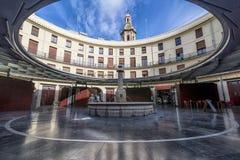 Stil ogenblik in het Plein Redonda, Rond vierkant, Valencia, Spanje royalty-vrije stock foto
