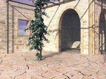 Stil Schaduwrijk Terras stock illustratie