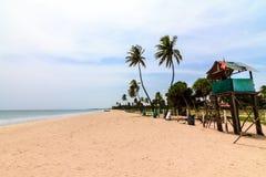Stil Strand bij Eastarn-Kust van Sri Lanka stock foto