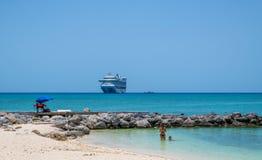 Stil Strand de Bahamas royalty-vrije stock afbeelding