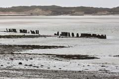 Stil strand in Normandië stock afbeeldingen