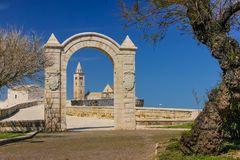 stil tuscany för domkyrkaEuropa italy pisa romanesque Trani Apulia italy Arkivfoto