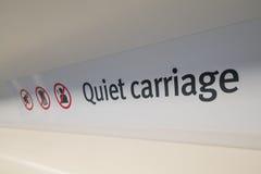 Stil vervoerteken op een trein royalty-vrije stock fotografie