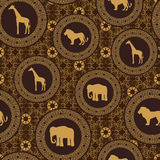 stile африканской картины безшовный Стоковые Фотографии RF
