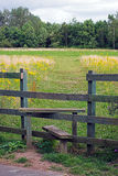 Stile. A stile to assist you over a fence Royalty Free Stock Photo