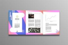 Stile alla moda e moderno di progettazione dell'opuscolo di affari illustrazione di stock