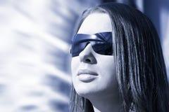 Stile alta tecnologia del ritratto della donna Immagine Stock