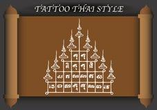 Stile antico del tatuaggio tailandese Fotografia Stock