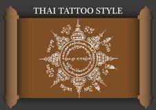 Stile antico del tatuaggio tailandese illustrazione vettoriale