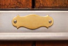 Stile antico di piastra metallica Immagine Stock