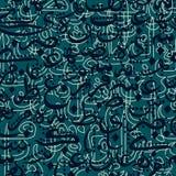 Stile arabo di calligrafia dell'ornamento senza cuciture del modello illustrazione vettoriale