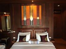 Stile asiatico della camera da letto Fotografia Stock Libera da Diritti