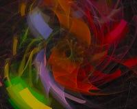 Stile astratto di forma di fantasia di energia della carta di caos di frattale, progettazione della curva, partito moderno, poter illustrazione vettoriale
