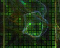 Stile astratto di scienza di forma della carta di caos del modello di frattale, progettazione della curva, partito moderno, poter illustrazione vettoriale