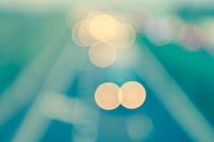 stile astratto - luci Defocused d'annata della strada principale Fotografia Stock