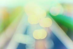 stile astratto - luci pastelli Defocused della strada principale Immagini Stock Libere da Diritti