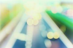 stile astratto - luci pastelli Defocused della strada principale Immagine Stock
