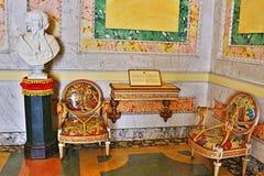 Stile barrocco che fornisce il palazzo Isola Bella Lago Maggiore Italy di Borromeo immagine stock libera da diritti