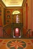 Stile barrocco che fornisce la scala Isola Bella Lago Maggiore Italy del palazzo di Borromeo immagini stock libere da diritti