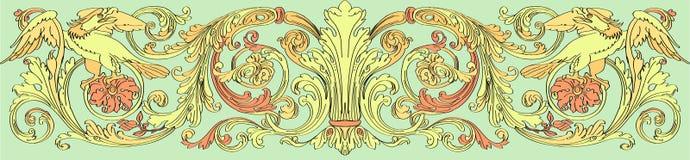 Stile barrocco floreale illustrazione vettoriale