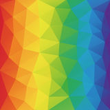 Stile basso arruffato geometrico astratto del fondo triangolare dello spettro di colori poli Fotografie Stock Libere da Diritti