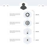 Stile in bianco e nero del modello di cronologia Immagine Stock Libera da Diritti