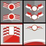 Stile bianco rosso 2 di vettore della bandiera indonesiana Fotografie Stock Libere da Diritti