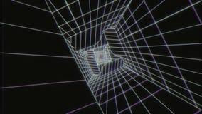 stile bianco V3 di VHS del fondo di Loopable del tunnel di Digital di fantascienza 3D illustrazione vettoriale