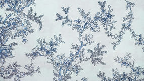 Stile blu dell'annata del fondo del tessuto del retro modello senza cuciture floreale del pizzo Fotografie Stock Libere da Diritti