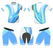 Stile blu di colori dell'abito della bicicletta di sport Fotografie Stock