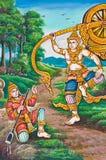 Stile buddista della vernice di arte Immagini Stock