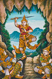 Stile buddista della vernice di arte Fotografia Stock