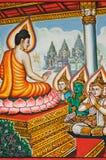 Stile buddista della vernice di arte Immagine Stock Libera da Diritti