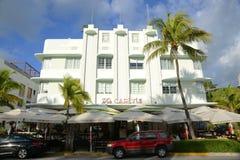 Stile Carlyle di art deco in Miami Beach Fotografia Stock Libera da Diritti