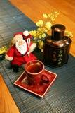 Stile cinese del Babbo Natale Fotografia Stock