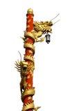 Stile cinese del drago della colonna Immagine Stock