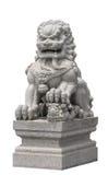 Stile cinese della scultura di pietra del leone Fotografia Stock