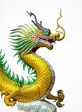 Stile cinese della statua del drago isolato fotografia stock libera da diritti