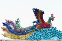Stile cinese della statua di Phoenix Fotografia Stock