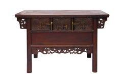 Stile cinese della tavola di legno Immagine Stock Libera da Diritti