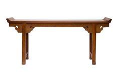 Stile cinese della tavola di legno Fotografie Stock Libere da Diritti