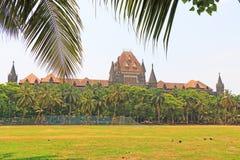 Stile coloniale che sviluppa l'alta corte India di Mumbai Immagini Stock Libere da Diritti