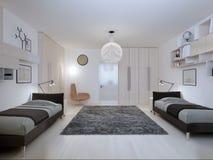 Stile contemporaneo della camera da letto degli adolescenti Fotografia Stock Libera da Diritti