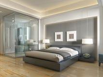 Stile contemporaneo della camera di albergo moderna con gli elementi dell'art deco Fotografia Stock Libera da Diritti