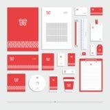 Stile corporativo con un segno su un fondo rosso royalty illustrazione gratis