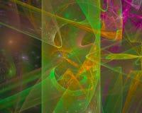 Stile cosmico di fantasia di energia della decorazione di frattale di caos della carta astratta di effetto, progettazione, partit royalty illustrazione gratis